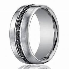 designer 14k white gold men s eternity band black diamond 7 5mm