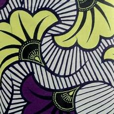 fleur tissu mariage tissu wax fleurs de mariage violet jaune x10cm