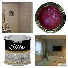 glitter on the walls how cool is that home decor