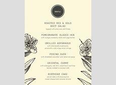 Customize 197  Dinner Party Menu templates online   Canva