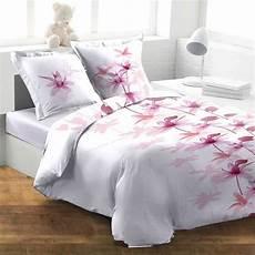 housse de couette rose housse de couette 240x260 fleur blanc achat vente