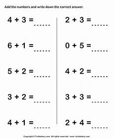 single digit subtraction worksheets for kindergarten 10505 one digit addition worksheet1 with images kindergarten math worksheets addition addition