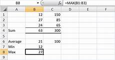 how to calculate maximum number in excel excel vba