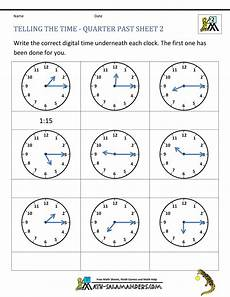 free printable telling time worksheets 3rd grade 3687 clock worksheet quarter past and quarter to
