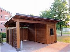 box per auto in legno carport per auto singolo con box integrato