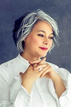 hairstyles for salt and pepper hair amazing gray hairstyles we love southern living