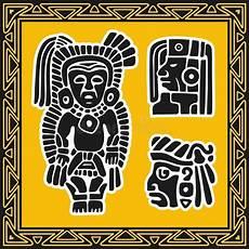 Indianische Muster Malvorlagen Bilder Set Alte Indianische Muster Vektor Abbildung