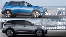 2018 Opel Grandland X Vs 2017 Peugeot 3008 Technical