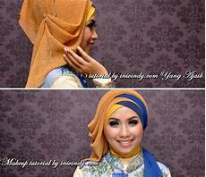 Jilbab Kebaya Wisuda Dua Warna Silang Pashmina Glitter