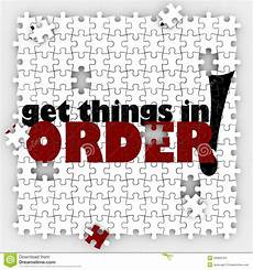 get things in order puzzle pieces organize your or
