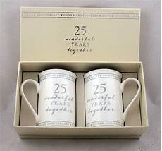 special gift for wedding anniversary show details for 25th anniversary gift set of 2 china mugs