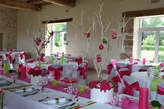 idées déco mariage decoration mariage fushia et vert anis