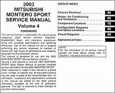 car repair manual download 2003 mitsubishi challenger instrument cluster 2003 mitsubishi montero sport repair shop manual set original
