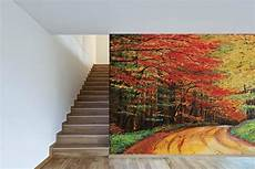 Poster Mural Trompe L Oeil Chemin Forestier