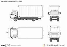 box truck diagram mitsubishi fuso box truck vector drawing