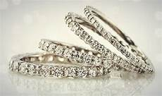 full eternity band ring in 1mm 1 5mm 2mm and 2 5mm