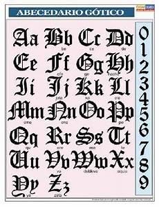 alfabeto gotico lettere letra de graffiti abecedario gotico