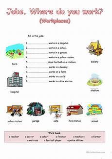 where do you work worksheet free esl printable worksheets made by teachers