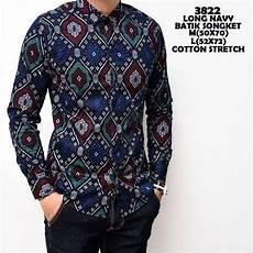 jual baju koko modern kemeja batik pria panjang kerja kantor slimfit baju cowok modern murah