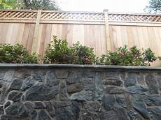Privacy Fence With Wall Modern Landscape Dc