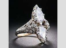 Edwardian Twin Stone Pear Shape Diamond Ring   10 1 5250