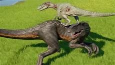 indoraptor vs velociraptor jurassic world evolution