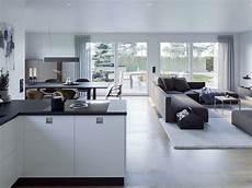 wohnzimmer mit offener modernes wohnen mit offener k 252 che wohnzimmer esszimmer