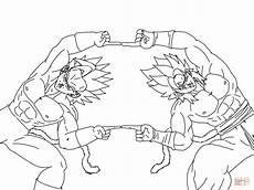Malvorlagen Fusion Z Goku Saiyan 4 Coloring Pages