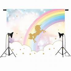 5x3ft 7x5ft Rainbow Clouds Unicorn Photography by 5x3ft 7x5ft Rainbow Sky Gold Unicorn Photography Backdrop
