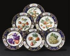 Porcelaine De - six assiettes en porcelaine de boyer de la fin du