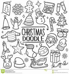 merry christmas traditional doodle icon draw stock vector illustration of famous