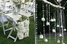 au wedding white green wedding ceremony decor onewed com