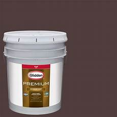 glidden premium 5 gal hdgr39d ranch house brown flat latex exterior paint hdgr39dpx 05f the