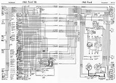 Ford V8 Thunderbird 1963 Complete Wiring Diagram All