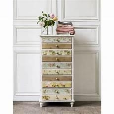 semainier maison du monde semainier 5 tiroirs blanc imprim 233 floral flora maisons