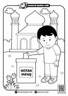 Gambar Mewarnai Tema Islami Warna Warni Gambar