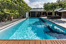 Garden And Pools - backyard garden with amazing glass swimming pool