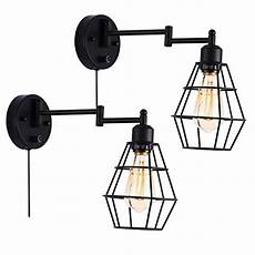 larkar wall l plug in cage wall sconces dimmable