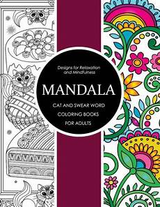 mandala cat and swear word coloring books for adults