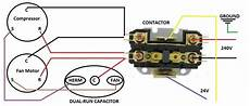 capacitor contactor wiring diagram contactor capacitor wiring help hvac diy chatroom home improvement