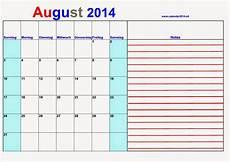 August 2014 Agenda Calendars 2018 Kalendar 2018