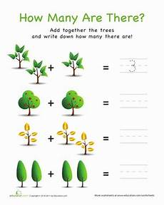 how many are there trees worksheet education com