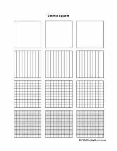 decimal square worksheets 7298 decimal squares template printables template for 4th 6th grade lesson planet