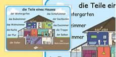 Die Teile Eines Hauses Word Mat German German Parts House