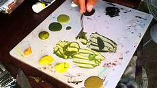 quot mixing green paint out of black and yellow quot youtube