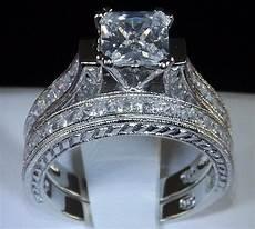 2 83 princess cut engagement wedding ring womens