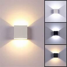 modern 6w led wall light up down l sconce spot lighting home bedroom fixture ebay