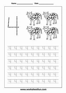 counting tracing numbers worksheets 8044 number tracing worksheet 4 homeschooling number tracing number tracing