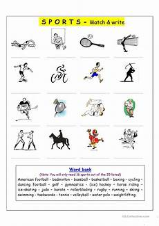 sports worksheets kindergarten 15816 vocabulary matching worksheet sports worksheet free esl printable worksheets made by teachers