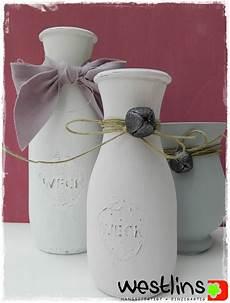 kreidefarbe auf glas westlins flaschen mit eingebranter kreidefarbe